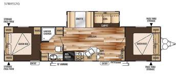 Rv 2 Bedroom Floor Plans New 2015 Forest River Rv Wildwood 37bhss2q Travel Trailer At