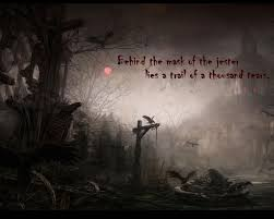 happy halloween cover photo behind the mask of the jester lies a trail of a thousand tears