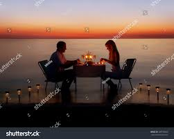 loving couple share romantic dinner candles stock photo 289790645