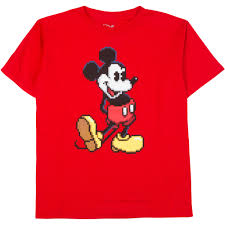 boys u0027 disney standing classic mickey mouse pixel graphic tee