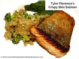 tyler florence u0027s salt and pepper crispy skin salmon everyday