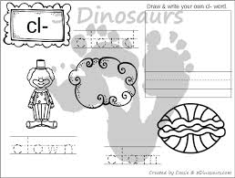 free blends coloring pages bl br cl cr 3 dinosaurs
