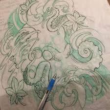 jason clay dunn u2014 octopus sketch for tomorrow u0027s half sleeve
