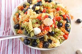 Pasta Salad Mayo by Tri Colored Pasta Salad Recipe Courtney U0027s Sweets
