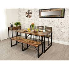 bench dining room table dining table bench amazon co uk