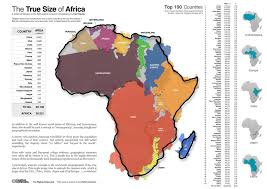 africa map 54 countries various maps showing how big africa is