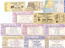 daleagogo ticket stub nostalgia my life in concerts