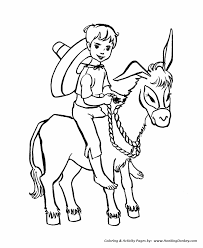 farm animal coloring pages boy riding donkey coloring