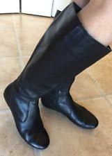 womens black leather boots size 12 born anny black boots womens size 12 m ebay