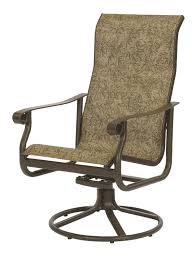 High Back Sling Patio Chairs by Outdoor Sling Patio Chair And Swivel Rocker