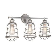 four light glass shade vanity light