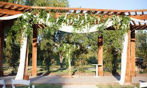pergola design magnificent build your own wedding arbor burlap