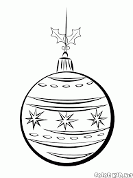 coloring page christmas decorations