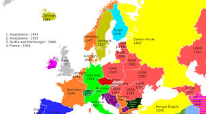 map of the countries an awesome map of the last each european country was occupied