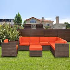 Patio Furniture Sectional Seating - atlantic contemporary lifestyle marseille 8 piece patio sectional