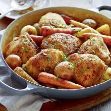 cuisiner haut de cuisse de poulet poulet et légumes braisés à la bière coup de pouce