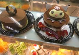 cute kawaii characters in hong kong kuromi cake rilakkuma bear