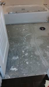 flooring tile basement bathroom over cracks without ditra home