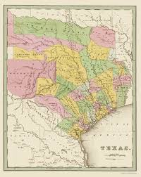 Austin County Map by Old State Map Texas Eastern Landowner Grants 1838