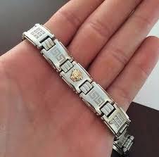 stainless steel gold bracelet images 18k solid gold cz medusa head versace style bracelet stainless jpg