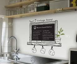 stickers ardoise cuisine vinyle ardoise stickers muraux papier peint cuisine chalk conseil