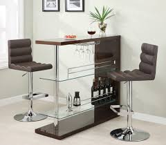 Kitchen Bar Furniture Brown Bar Table Set Dining