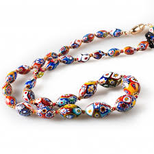 coloured beads necklace images Classic coloured beads necklace made of murano glass jpg