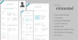 my resume template my resume clean cv resume template html others themeforest
