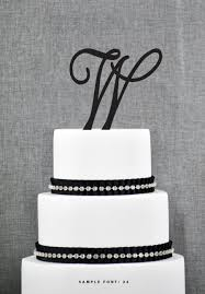 w cake topper personalized monogram initial wedding cake toppers letter w