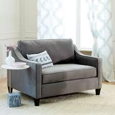 Sleeper Chair Sofa Paidge Chair And A Half Sleeper West Elm