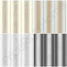 fine decor wentworth stripe wallpaper black grey cream silver