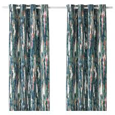 curtains blinds ikea grAslilja curtains 1 pair multicolor length 98