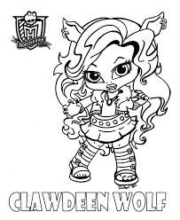 monster high colotring pages