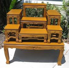 Coffee And End Table Set Carved Coffee Tables Opium Legs Tables End Tables Buddhist