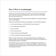 autobiography outline template u2013 17 free word pdf documents