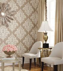 Best Wallpaper Images On Pinterest Damasks Wallpaper For And - Living room wallpaper design