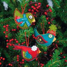 wonderful diy felt bird ornaments