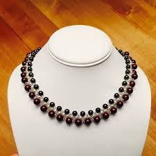 make pearl necklace images How to make a three layer pearl necklace jpg