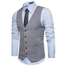 mens vest slim fit business suit vests style breasted
