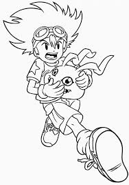 download digimon coloring pages taichi print digimon coloring
