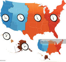 America Time Zone Map by Usa Time Zone Map Vector Art Getty Images