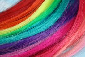 Clip Hair Extensions Australia by Rainbow Colored Human Hair Extensions Colored Hair Extension