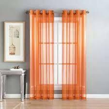 orange window curtains burnt orange curtains and drapes target