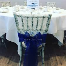 Royal Blue Chair Sashes Wedding Chair Covers And Wedding Planning Essex Gallery