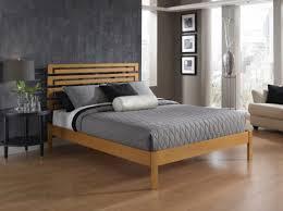 Flat Platform Bed Furniture Square Dark Brown Wooden Flat Platform Bed Frame With U