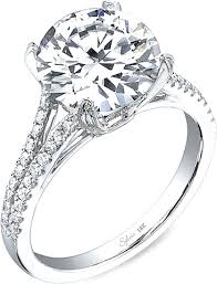 engagement rings diamond sylvie split shank diamond engagement ring sy098