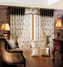 Cheap Stylish Curtains Decorating Livingroom Living Room Curtain Ideas With Blinds Brown Furniture