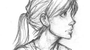 side profile face drawing how to draw a female face front and