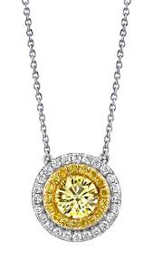 yellow diamond necklace pendants images Fancy color diamonds michael barin jpg