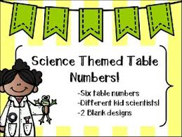 themed table numbers science lab table number labels by sciencebeans tpt